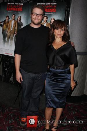 Seth Rogen and Rosie Perez