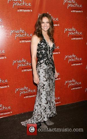 Amy Brenneman arriving at the Private Practice Season One DVD Launch Party at the Hollywood Roosevelt Hotel Hollywood, California -...