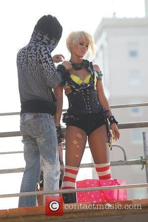 Kimberly Wyatt of The Pussycat Dolls  on the set of the Pussycat Dolls' new music video  Hollywood, California...