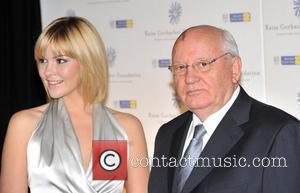 Mikhail Gorbachev, Granddaughter Anastasia Birganskaya and Hampton Court Palace