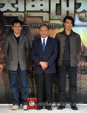 Tony Leung, John Woo and Kaneshiro Takeshi