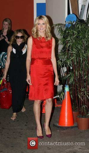 Heidi Klum leaving ABC Studios after appearing on 'Live with Regis and Kelly' New York City, USA - 15.07.08