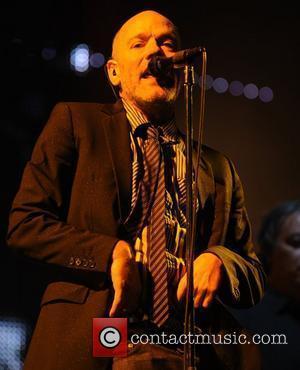 Michael Stipe of R.E.M.  performing live at Twickenham Stadium London, England - 30.08.08