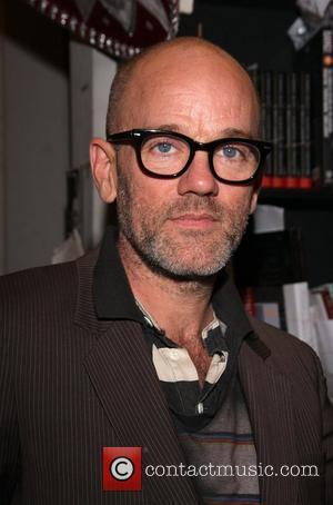 Michael Stipe at a signing session at Book Soup for the book 'R.E.M. Hello: Photographs', a collection of photographs by...