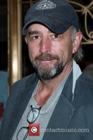 Actor Richard Schiff  wearing a Montauk Downs baseball cap while attending a performance of the Broadway play 'August: Osage...