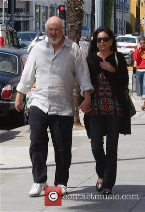 Rob Reiner and his wife Michele Singer leaving a Santa Monica movie theatre after watching 'The Happening' Los Angeles, California...