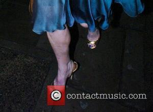 Sarah Ferguson  showing off her legs as she leaves Roberto Cavalli Dinner & Wine Launch held at 17 Berkeley...