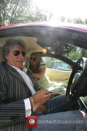 Rod Stewart, Penny Lancaster and Superman