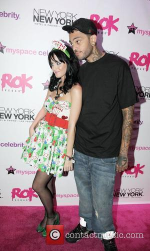 Katy Perry, Her Boyfriend Travis Mccoy At The Grand Opening Of Rok Vegas In The New York New York Hotel and Casino