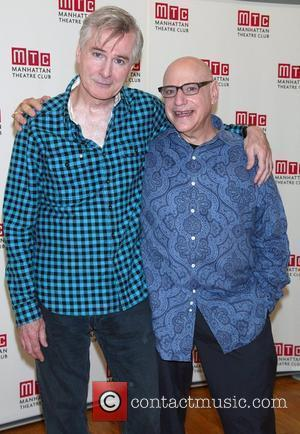 John Patrick Shanley and Henry Krieger sneak peak at the new musical 'Romantic Poetry' at the Manhattan Theatre Club New...