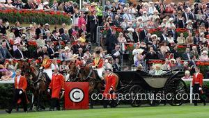 Prince Charles, Prince Of Wales, Camilla and Duchess Of Cornwall Arrive By Horse-drawn Carriage At Royal Ascot - Day One