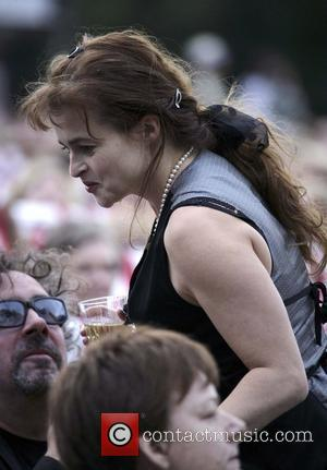 Helena Bonham Carter and Tim Burton at the Rufus Wainwright gig at Kenwood House. London, England - 05.07.08