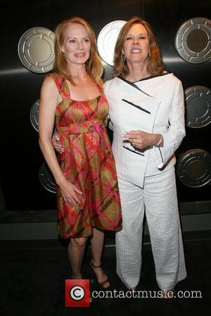 Marg Helgenberger and Aaron Spelling