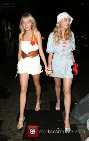 Samantha Marchant and Amanda Marchant leaving Punk nightclub. London, England - 02.06.08