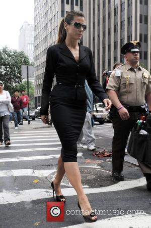 Sandra Bullock on the film set of 'The Proposal' Lower Manhattan - New York City - 06.06.08