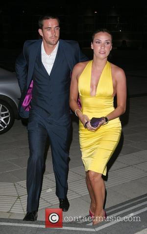 England cricket captain Kevin Pietersen and wife Jessica Taylor outside Saviles Hall Leeds, England - 22.09.08