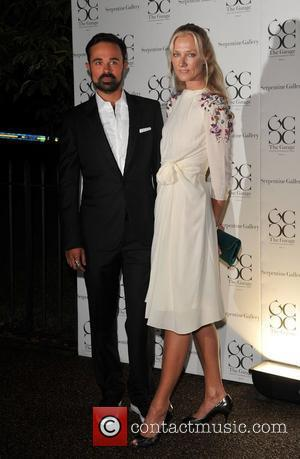 Joely Richardson and Evgeny Lebedev The Serpentine Gallery summer party - arrivals London, England - 9.09.08