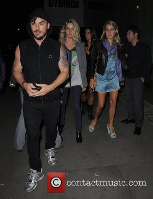 Shannon Leto of 30 Seconds to Mars arrives at his hotel with a group of blonde women London, England -...