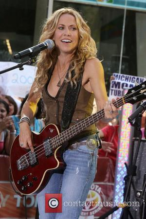 Sheryl Crow and Rockefeller Plaza