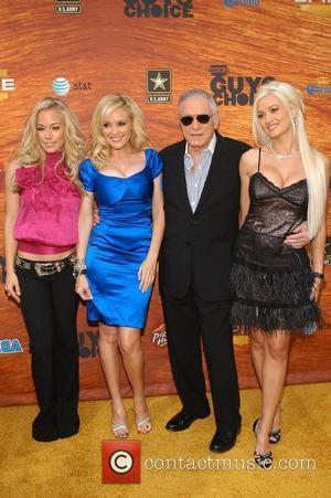 Kendra Wilkinson, Bridget Marquardt and Hugh Hefner