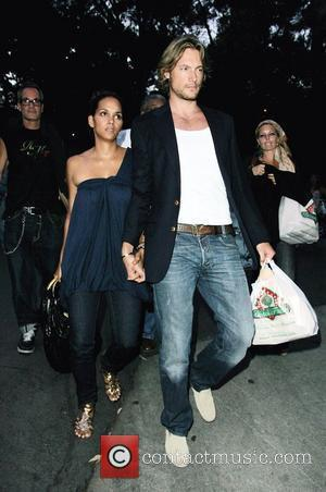 Halle Berry and Gabriel Aubry Leaving Hollywood Bowl