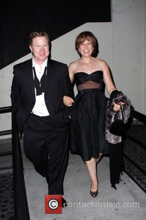 Yeardley Smith and guest leaving the Comedy Central Emmy After Party at STK restaurant Los Angeles, California - 21.09.08