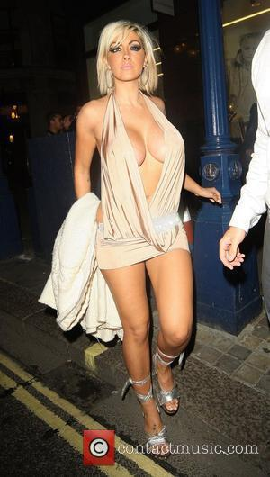 Jodie Mrash leaving Studio Valbonne nightclub London, England - 18.07.08