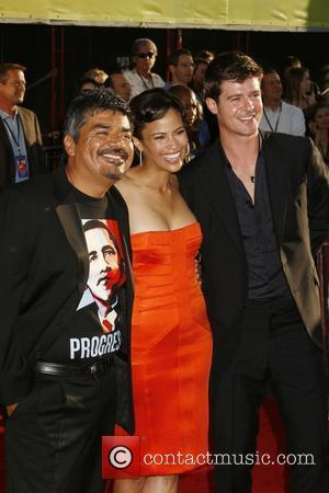George Lopez and Robin Thicke