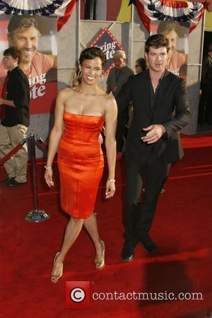 Robin Thicke and Paula Patton 'Swing Vote' Premiere held at El Capitan Theatre Hollywood, California USA - 24.07.08