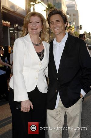 Arianna Huffington and Lawrence Bender World premiere of 'Swing Vote' held at the El Capitan Theater - Arrivals Hollywood, California...