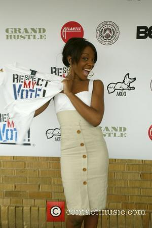 Dawn from Danity Kane supports hip-hop artist T.I. and Reverend Yearwood of the Hip Hop Caucus to launch a voter...