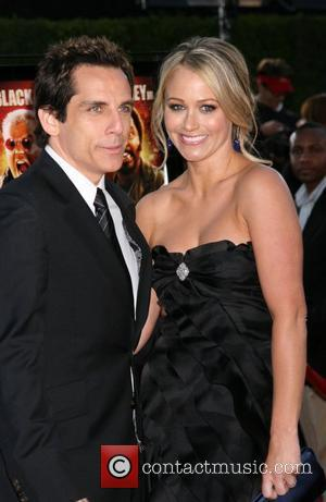 Christine Taylor and Ben Stiller Los Angeles premiere of Tropic Thunder held at Mann's Village Theatre - Arrivals California, USA...