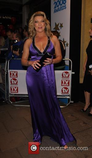 Gillian Taylforth, arrive at TV Quick & TV Choice Awards at The Dorchester. England - 08.09.09