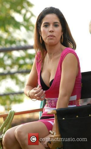 Ana Ortiz filming on the set of Ugly Betty New York City, USA - 18.07.08