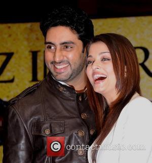 Abhishek Bachchan and Aishwarya Rai Bachchan at a press conference for 'The Unforgettable Tour' at the Crowne Plaza Hotel London,England...