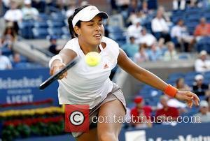 Ana Ivanovic 2008 US Tennis Open - Day 4 Julie Coin defeated Ana Ivanovic 6-3, 4-6, 6-3 New York City,...