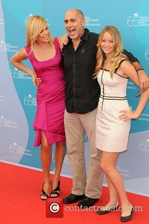 Charlize Theron, Guilelermo Arriga and Jennifer Lawrence
