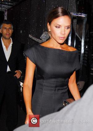 Victoria Beckham  leaving Ithaca restaurant wearing a black evening dress Manchester, England - 28.08.08