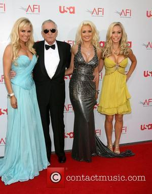 Bridget Marquardt, Holly Madison and Hugh Hefner