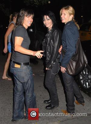 Joan Jett and friends outside the Waverly Inn in the West Village New York City, USA - 03.06.08