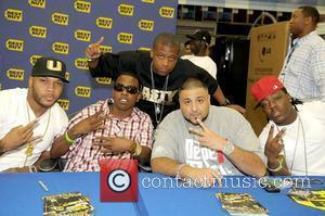 Flo Rider, Brisco, Nasty Beatmaker, DJ Khaled and Ace Hood  DJ Khaled signs copies of his new CD 'We...