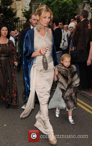 Kate Moss and Leah Wood