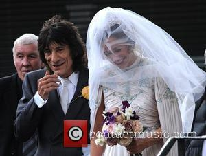 Leah Wood and Ronnie Wood