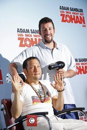 Rob Schneider, Adam Sandler Promoting new movie You Don't Mess With The Zohan (Leg Dich nicht mit dem Zohan an)...