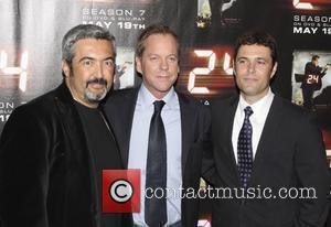 Jon Cassar and Kiefer Sutherland