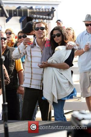 Matthew Mcconaughey, His Girlfriend Camila Alves and Their Son Levi