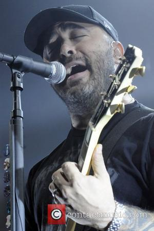 Aaron Lewis performing with Staind at the KROQ-FM Almost Acoustic Christmas concert held at the Gibson Amphitheatre Universal City, California...