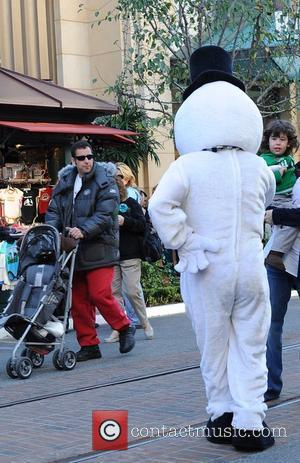 Adam Sandler and Sadie Sandler shopping with their family at The Grove Los Angeles, California - 19.12.08