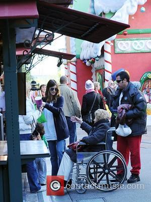 Adam Sandler, Judy Sandler, Jackie Sandler and Sadie Sandler shopping with their family at The Grove Los Angeles, California -...