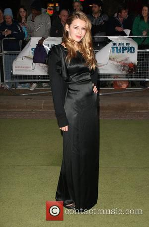 Keeley Hazell  'The Age of Stupid' UK film premiere held at Leicester Square gardens in a solar powered tent...
